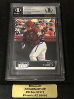 2011 Bowman Baseball TOPPS 100 MIKE TROUT ROOKIE AUTO, BECKETT AUTHENTIC AUTO