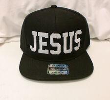 JESUS SNAP BACK HAT- BLACK