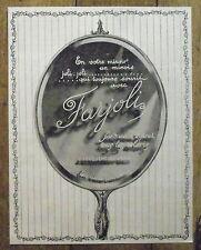 PUBLICITE FARJOLI LESQUENDIEU  FARD CREME   advertising 1924