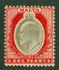 SG 39 Malta 1d blackish brown & red. Very lightly mounted mint CAT £15