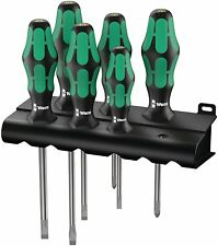 Wera 05105650001 334/6 Rack Screwdriver Set Kraftform Plus Lasertip and Rack