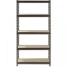 Muscle Rack 5-Shelf Steel Shelving, Silver-Vein, 12 D x 30 W x 60 H