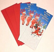 3X GLITTER CHRISTMAS GREETING CARDS MONEY / GIFT CARD HOLDERS AMERICAN GREETINGS