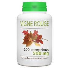 Vigne Rouge 500 mg - 200 comprimés - Planète au Naturel