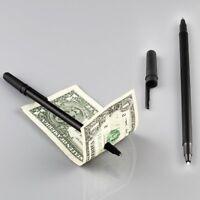 Magic Trick Pen Penetration Thru Invisible through Note Paper Money Bill Misled