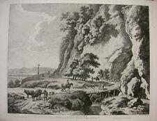 WEIROTTER `PONT RUSTIQUE; LÄNDLICHE BRÜCKE NACH DIETRICY; A. ZINGG´ W 118, ~1765