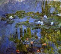 Art Oil painting Claude Monet - Water-Lilies impressionism landscape & flowers