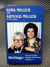 SIMA & ARNOLD MILLER Yiddish Folks Songs piano tape Jewish traditionals
