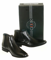 Mens New Black Leather Lined Ankle Boots Size 6 7 8 9 10 11 12 FREE UK SHIPPING