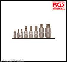 """BGS-Spline Xzn Set-M4-M16 X 1/4 """"de 3/8"""" & 1/2 """" 8 Pc, non Pisón-Pro - 5105"""
