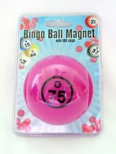 Bingo Chips Magnetic Ball Shaped Pick-up Storage System Purple 100 Chips New