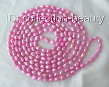 """stunning long 100"""" 11mm pink baroque freshwater cultured pearl necklace m672"""