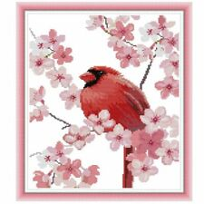 Bird Flower Handmade Needlework Counted 14CT Printed Cross Stitch Embroidery Kit