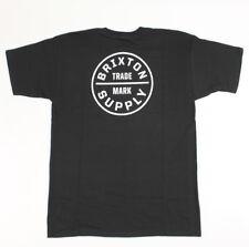 Brixton Mens Trademark S/S T-Shirt Black Size M New