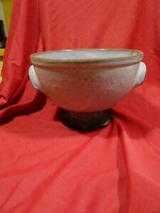 belle   céramique terre cuite grisatre fruitier ,saladier etc....