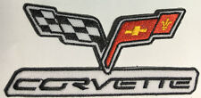 Corvette flags embroidered cloth patch.   G011004