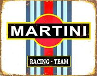 MARTINI RACING Replica Vintage Metal Wall Sign Plaque Retro Garage Shed Gift