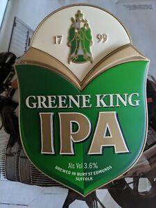 Greene King IPA India Pale Ale Beer Pump Clip, Man Cave, Home Bar