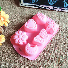 Flower Heart Lady Bug Moon Butterfly Star Cake Candy Jelly Biscuit Silicone Mold