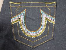 TRUE RELIGION WOMENS RAINBOW FLARE LEG BOOTCUT FIT BODY RINSE JEANS SIZE 26 NEW
