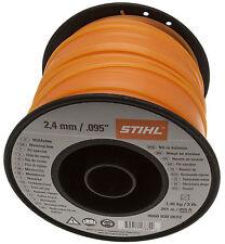 STIHL STIMMER Débroussailleuse Ligne Fil 2.4 mm x 261 m Orange Carré 0000 930 2612