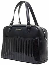 Sourpuss Retro Black Diaper Bag NEW Glitter Vinyl 1960s Hot Rod Rockabilly Baby