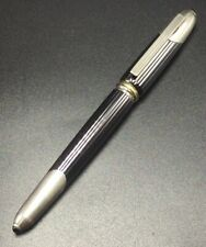 Cartier Vintage Authentic Silver Plated & Gunmetal Trinity Cougar Fountain Pen