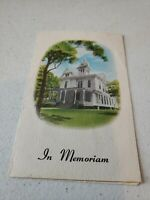 Vintage 1976 Heath & Sons Funeral Home In Memoriam Card Pamphlet