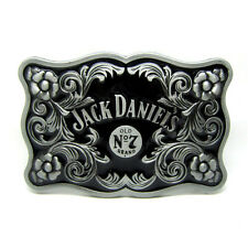 Rodeo Western Licensed Jack Daniel's Element Belt Buckle Floral Etched Whiskey