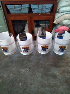 VINTAGE UNIVERSITY OF KENTUCKY WILDCATS GLASSES-LOT OF 4-BRAND NEW & NEVER USED!