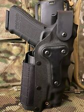 More details for safari 1911 / glock 17 right & left hand holster black airsoft improved locking