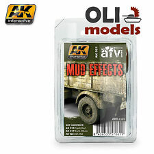 MUD EFFECTS Weathering Enamel Paint Set 3 x 35 ml - AK Interactive 61