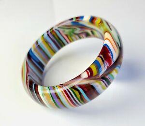Sobral Rainbow Stripe & Streaked Eye Pop Art Day PB24 Artist Made Bracelet
