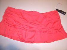NEW KENNETH COLE REACTION salmon orange pink bikini swimsuit skirt bottom XL 16