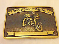 Sports and Competition Motorcycle Club Solid Brass Vintage Belt Buckle