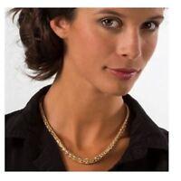 Collier Maille Palmier Plaqué Or 18 Carats 45cm Bijoux Femme NEUF