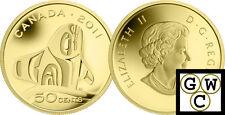 2011 Proof 50-Cent 'Orca Whale' 1/25oz Gold .9999 Fine (NT) (12915) (OOAK)