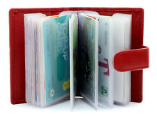 New Genuine Soft Leather Soft Credit Card Holder Case Wallet For Womens  210-Red