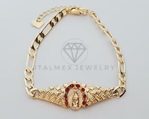 Esclava Santa Virgen CZ de Oro Laminado 18K  Gold Plated Holy Virgin CZ Bracelet