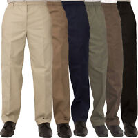 Carabou Mens Rugby Trousers Casual Work Pants Smart Elasticated Sizes from 32-60