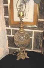 CHERUBS Unique large lamp Crystal center bowl gold finish metal Super!!