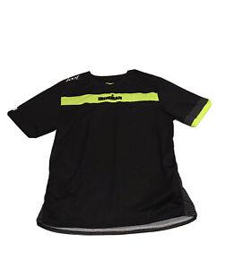 Men's Zoot Ironman Triathlon Black Bright Yellow Athletic Shirt Size XL
