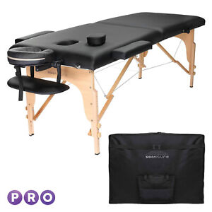 Black Portable Massage Table with Carrying Case
