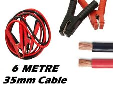 6 Metre 35mm Heavy Duty Car/Van Jump Leads Booster Starter Recovery Cables
