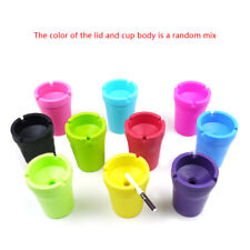 Mini Portable Ashtray Cigarette Cup Car Butt Bucket Smoke Ash Holder Candy Color