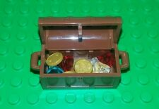 *NEW* Lego Treasure Chest Brown w Gold Coins Diamond Jewels Minifigs Figs x 1
