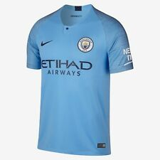 Youth 2018/19 Manchester City Football Club Home Stadium Jersey Soccer Large