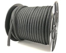 12mm Black Double Braid Polyester x 10 Metres, Braid on Braid Rope Marine Yachts