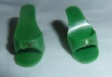 Vintage Barbie Senior Prom Green Open Toe Shoes Heels JAPAN
