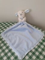 M&S Baby Blue Mix Puppy Comforter Soother Blankie Blanket Plush VGC